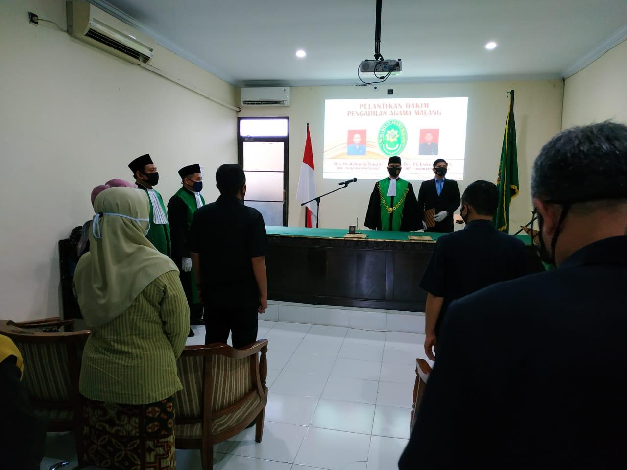 Pelantikan Hakim di Pengadilan Agama Malang